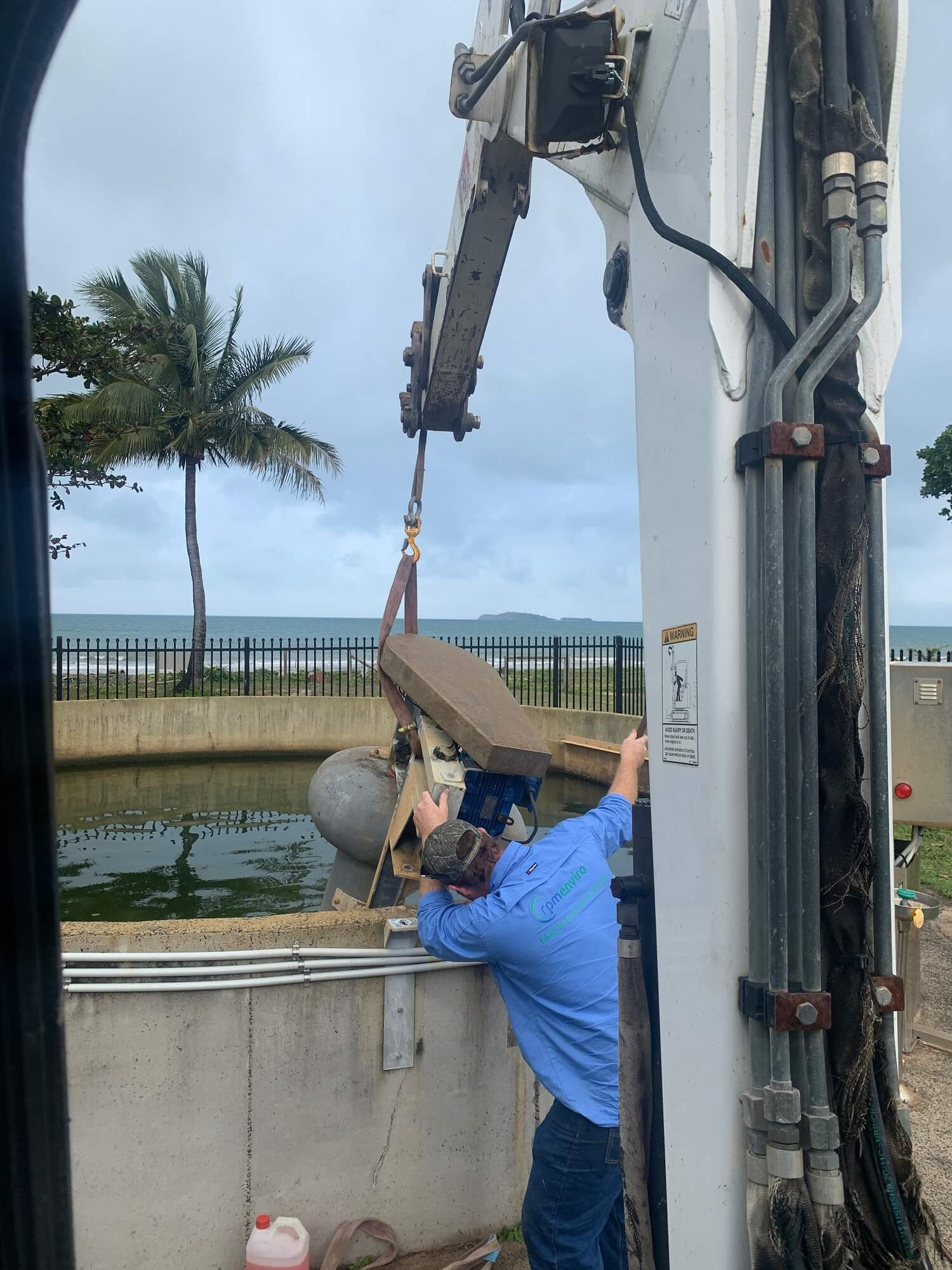 Machinery in action by Wet Tropics Plumbing Staff