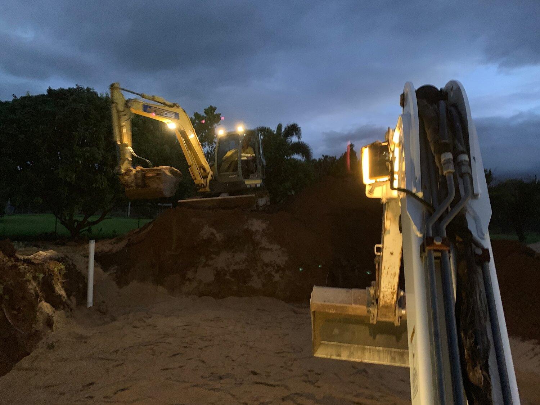 Wet Tropics Plumbing Cairns Vehicles at night